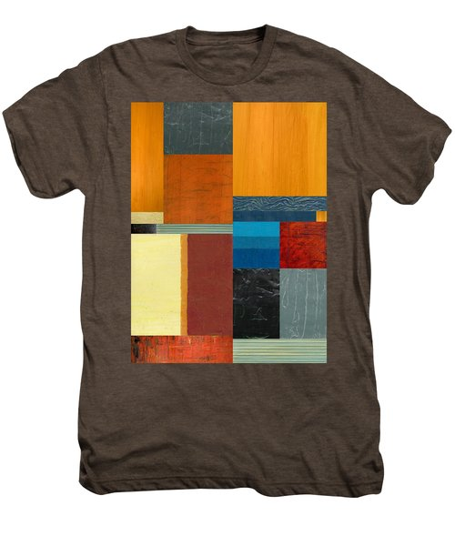 Men's Premium T-Shirt featuring the painting Orange Study With Compliments 3.0 by Michelle Calkins