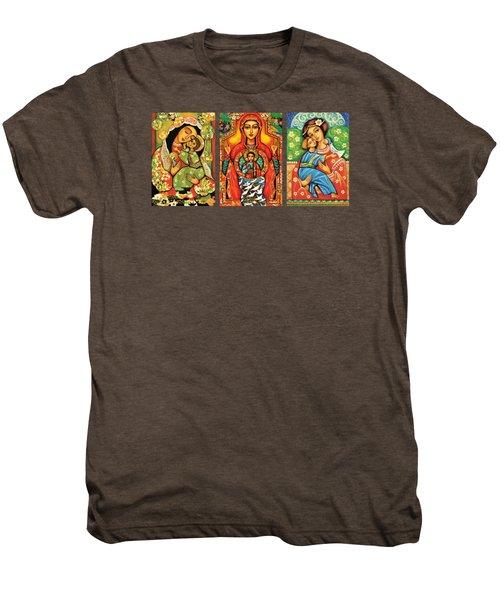 Madonnas With Child Men's Premium T-Shirt by Eva Campbell