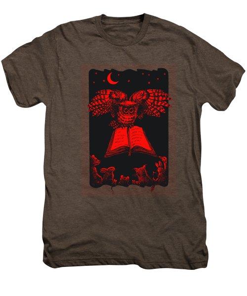 Owl And Friends Redblack Men's Premium T-Shirt