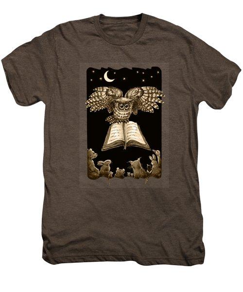 Owl And Friends Sepia Men's Premium T-Shirt