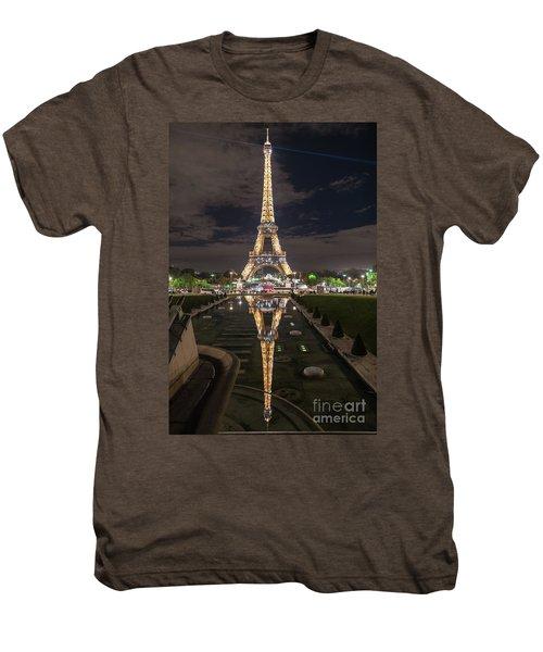 Paris Eiffel Tower Dazzling At Night Men's Premium T-Shirt