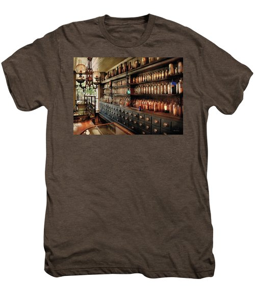 Pharmacy - So Many Drawers And Bottles Men's Premium T-Shirt