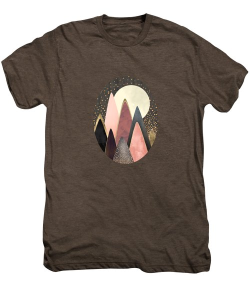 Pink And Gold Peaks Men's Premium T-Shirt