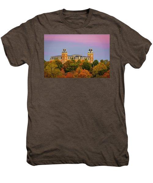 Pink Sky Over Old Main  Men's Premium T-Shirt