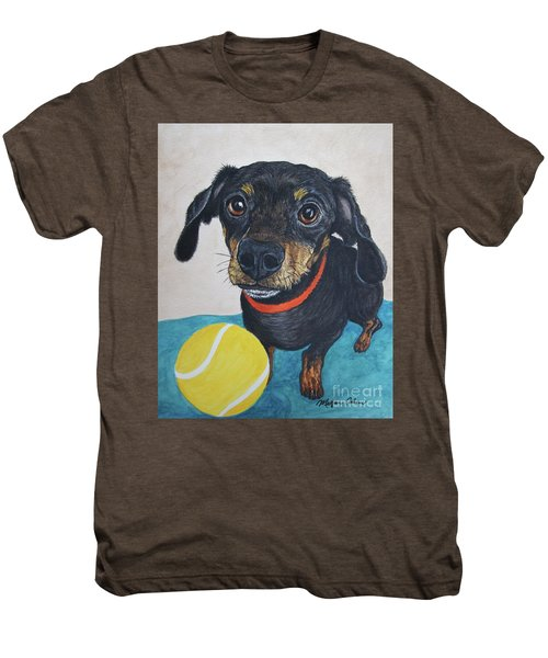 Playful Dachshund Men's Premium T-Shirt