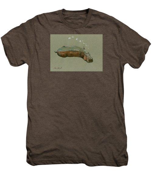 Playing Hippo Men's Premium T-Shirt