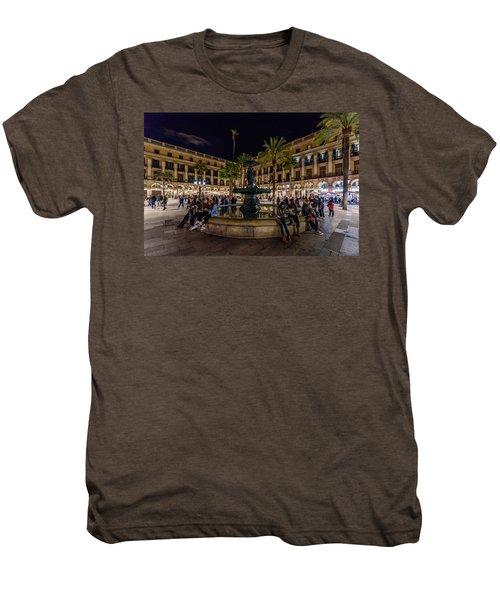 Plaza Reial Men's Premium T-Shirt by Randy Scherkenbach