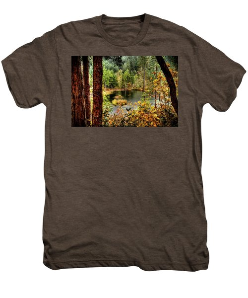 Pond At Golden Or. Men's Premium T-Shirt