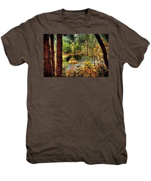 Pond At Golden Or. Men's Premium T-Shirt