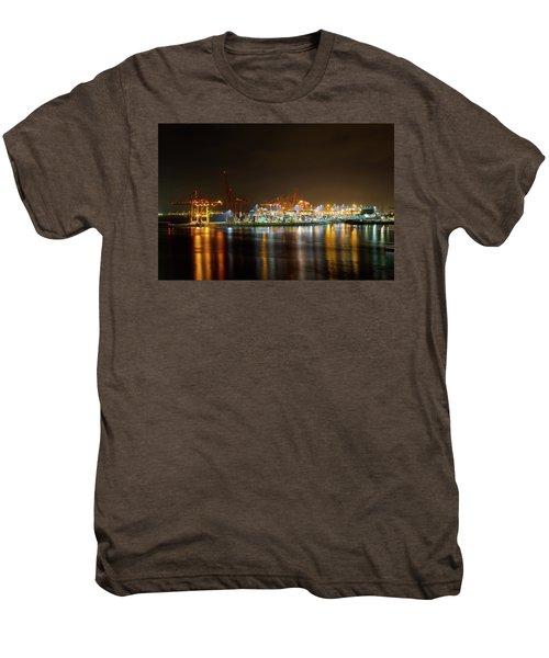 Port Of Vancouver Bc At Night Men's Premium T-Shirt