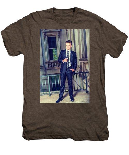 Portrait Of School Boy 1504258 Men's Premium T-Shirt