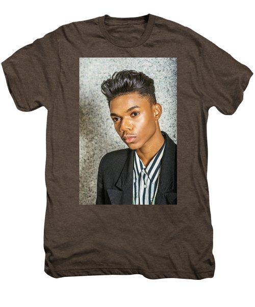 Portrait Of School Boy 15042652 Men's Premium T-Shirt