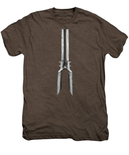 Post Hole Digger II On Plywood 73 In Bw Men's Premium T-Shirt