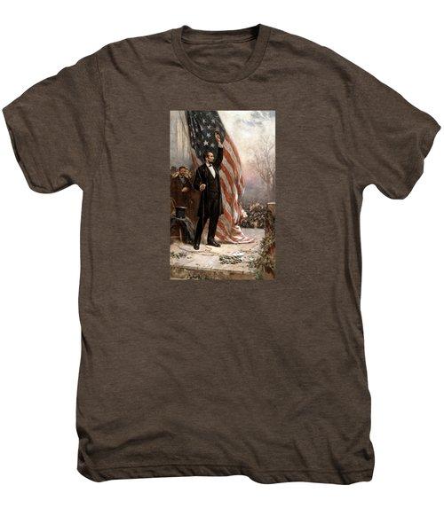 President Abraham Lincoln Giving A Speech Men's Premium T-Shirt
