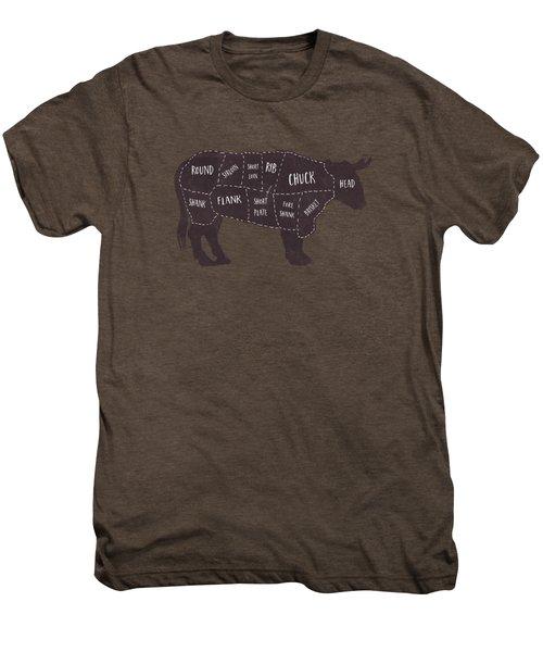 Primitive Butcher Shop Beef Cuts Chart T-shirt Men's Premium T-Shirt
