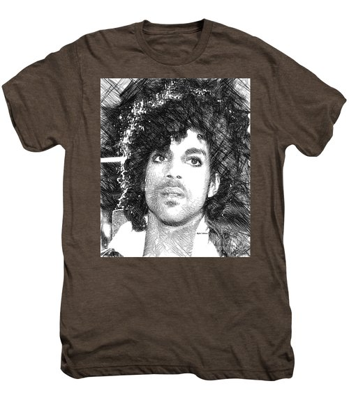Prince - Tribute Sketch In Black And White 3 Men's Premium T-Shirt