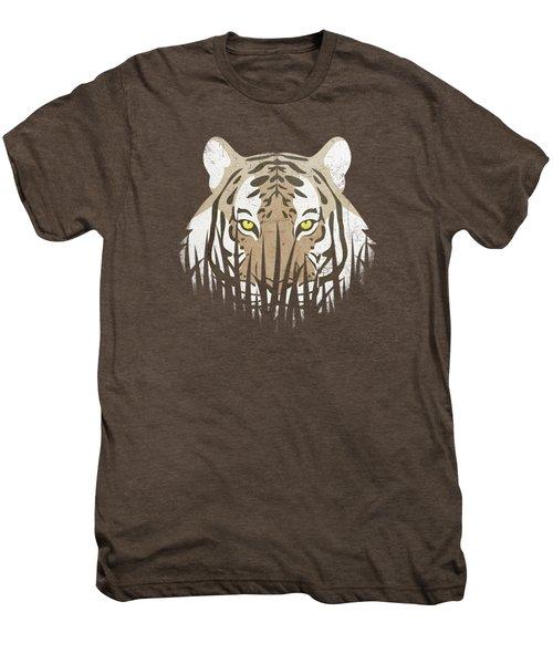 Hiding Tiger Men's Premium T-Shirt by Sinisa Kale