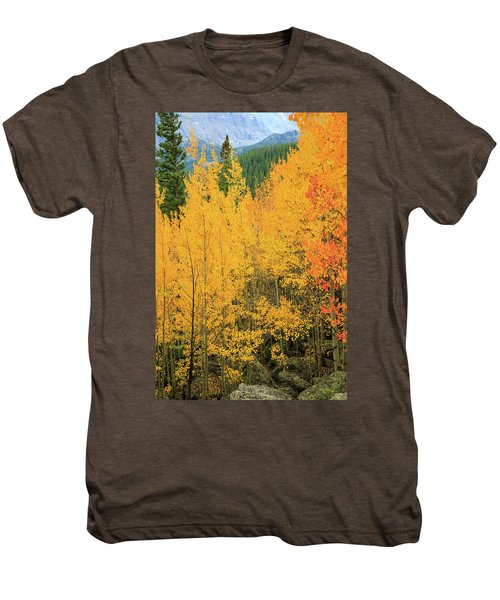 Men's Premium T-Shirt featuring the photograph Pure Gold by David Chandler