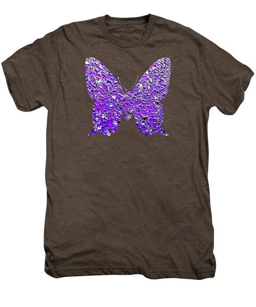 Purple Butterfly  Men's Premium T-Shirt