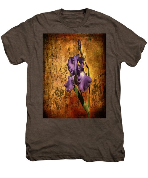 Purple Iris At Sunset Men's Premium T-Shirt