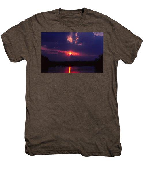Purple Sunset Men's Premium T-Shirt