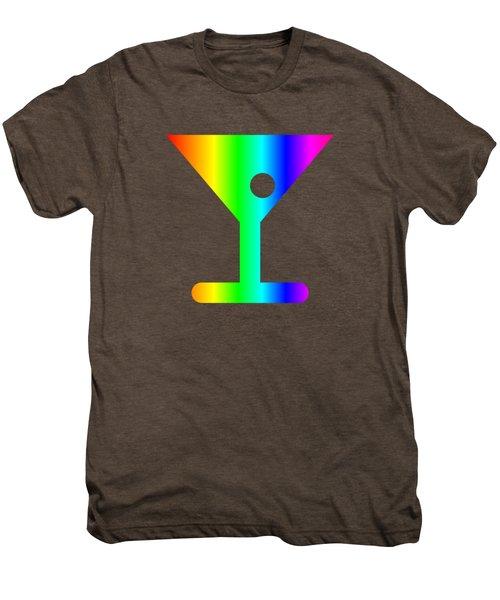 Rainbow Martini Glass Men's Premium T-Shirt