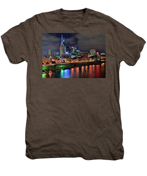 Rainbow On The River Men's Premium T-Shirt by Frozen in Time Fine Art Photography
