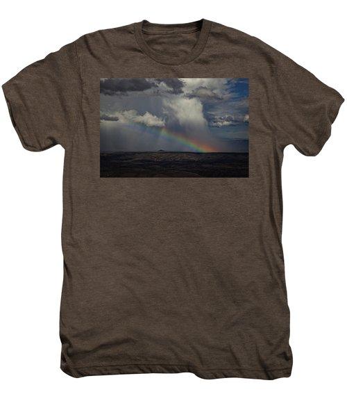 Rainbow Storm Over The Verde Valley Arizona Men's Premium T-Shirt