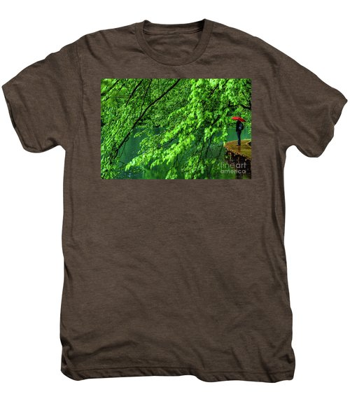 Raining Serenity - Plitvice Lakes National Park, Croatia Men's Premium T-Shirt