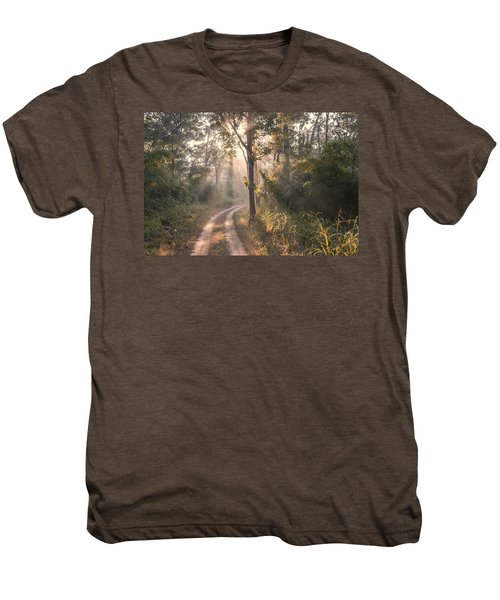 Rays Through Jungle Men's Premium T-Shirt