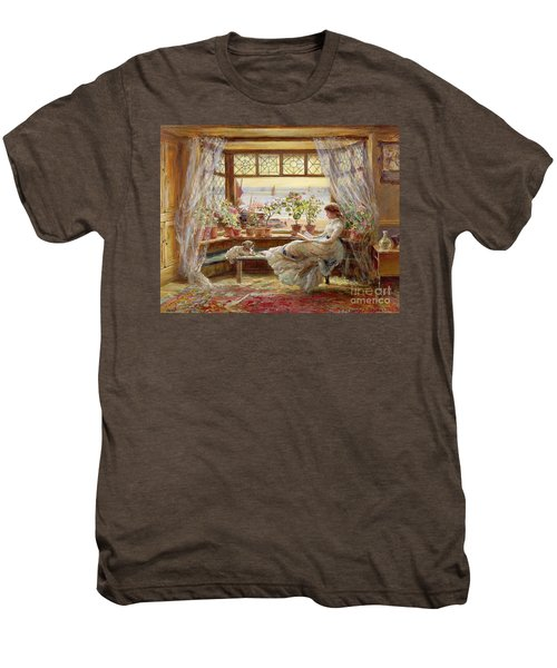 Reading By The Window Men's Premium T-Shirt