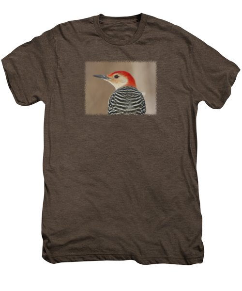 Red Bellied Woodpecker Glamour Portrait Men's Premium T-Shirt by John Harmon