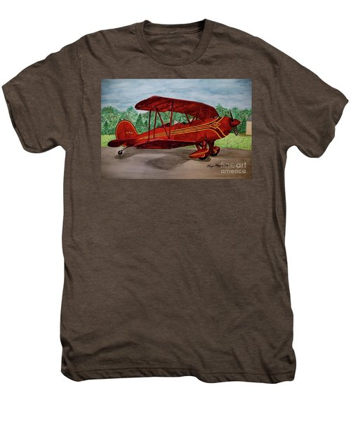 Red Biplane Men's Premium T-Shirt