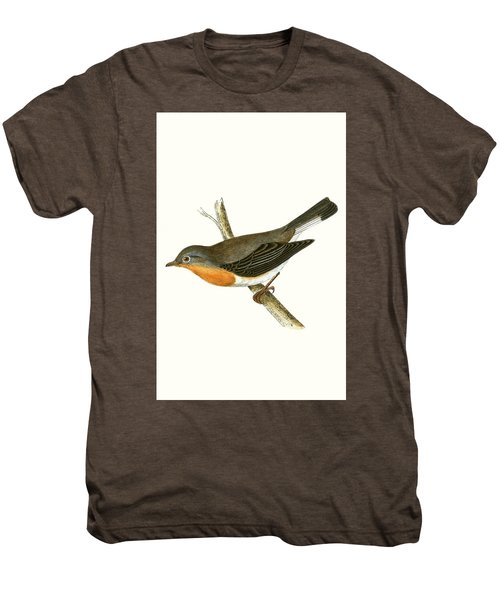 Red Breasted Flycatcher Men's Premium T-Shirt by English School