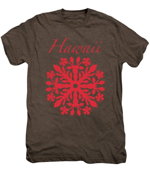 Hawaii Red Hibiscus Quilt Men's Premium T-Shirt