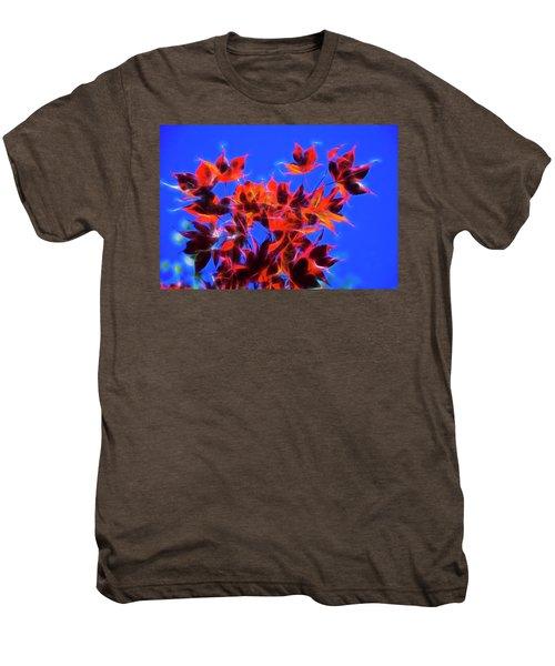 Red Maple Leaves Men's Premium T-Shirt by Yulia Kazansky