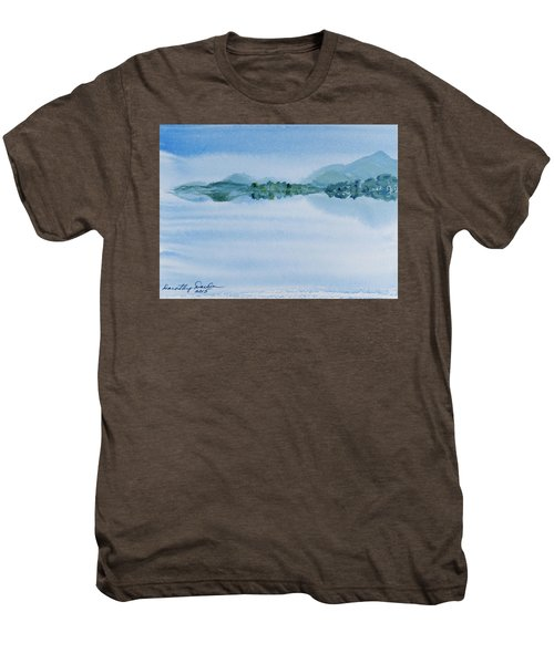 Reflection Of Mt Rugby In Bathurst Harbour Men's Premium T-Shirt