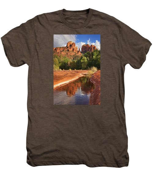 Reflections Of Cathedral Rock Men's Premium T-Shirt