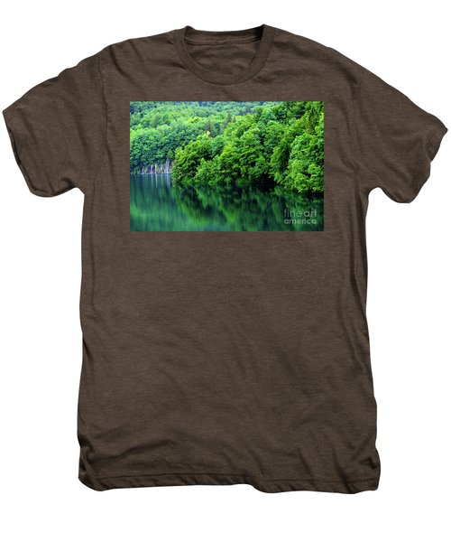 Reflections Of Plitvice, Plitvice Lakes National Park, Croatia Men's Premium T-Shirt