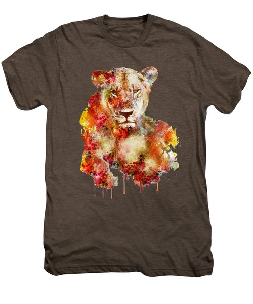 Resting Lioness In Watercolor Men's Premium T-Shirt