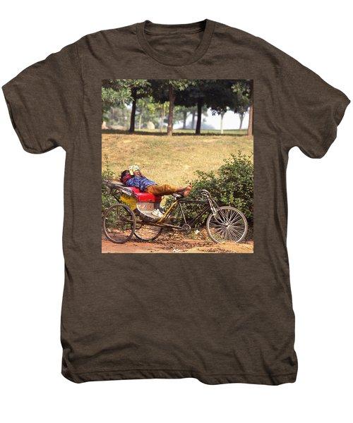 Rickshaw Rider Relaxing Men's Premium T-Shirt