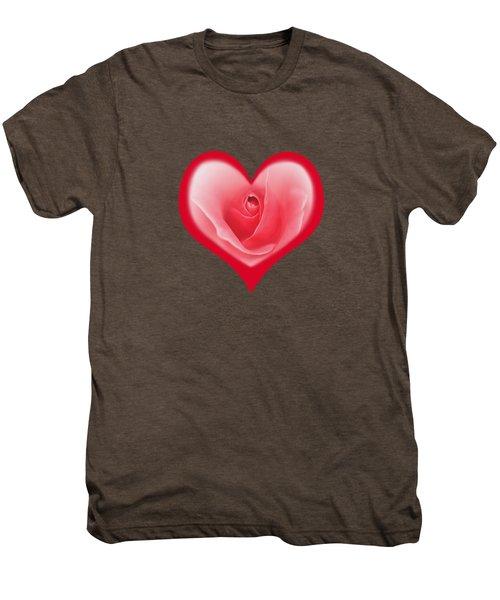 Rose Heart T-shirt And Print By Kaye Menner Men's Premium T-Shirt