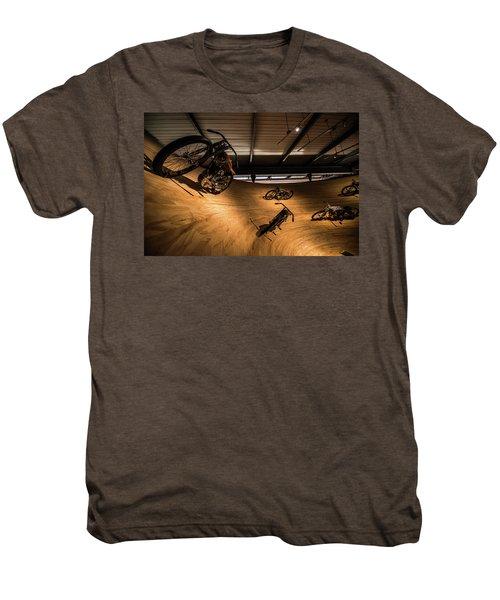 Men's Premium T-Shirt featuring the photograph Rounding The Bend by Randy Scherkenbach
