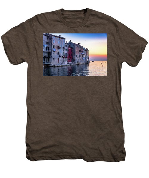 Rovinj Old Town On The Adriatic At Sunset Men's Premium T-Shirt