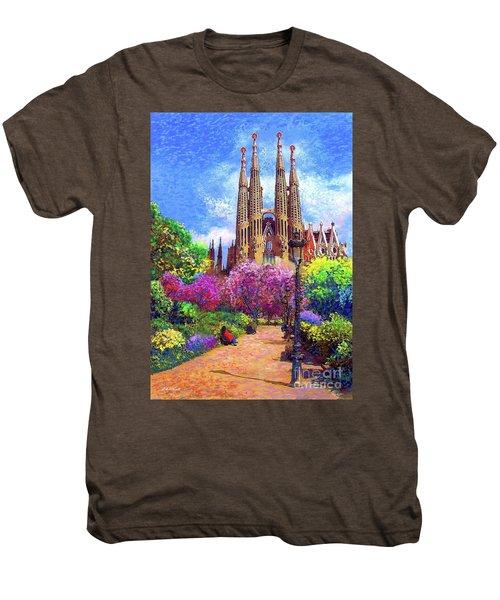 Sagrada Familia And Park Barcelona Men's Premium T-Shirt