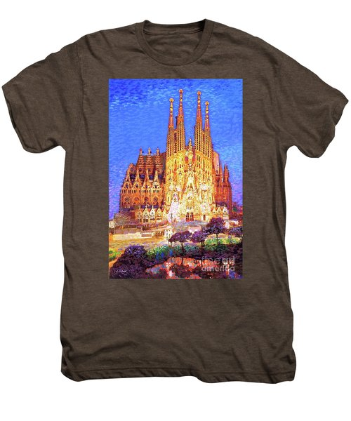 Sagrada Familia At Night Men's Premium T-Shirt