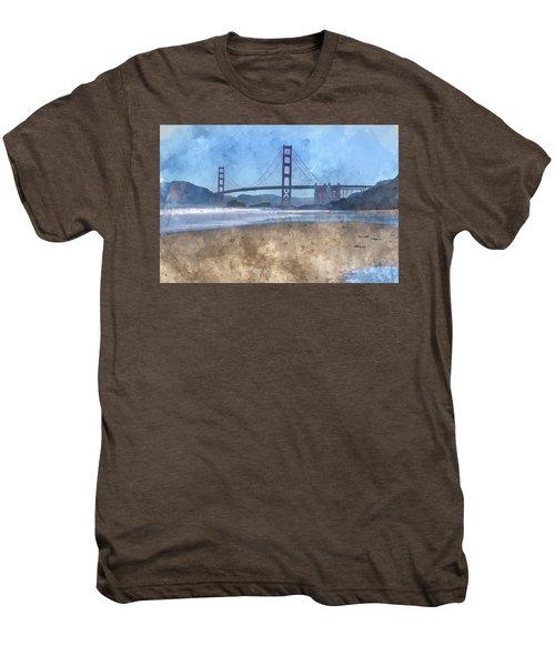 San Francisco Golden Gate Bridge In California Men's Premium T-Shirt