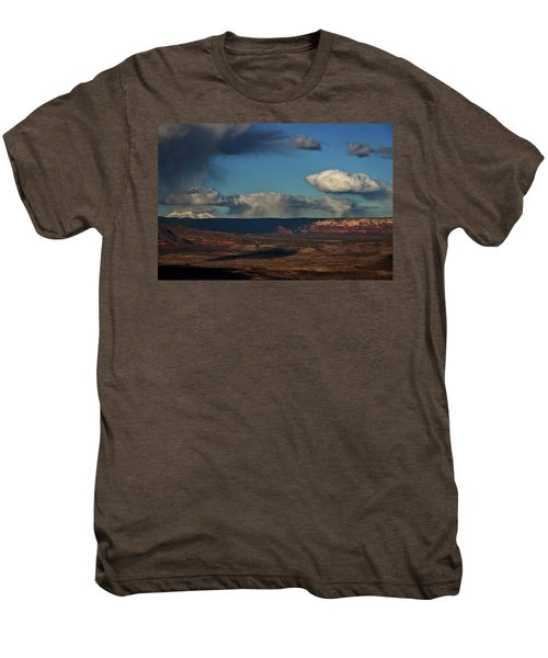 San Francisco Peaks With Snow And Clouds Men's Premium T-Shirt