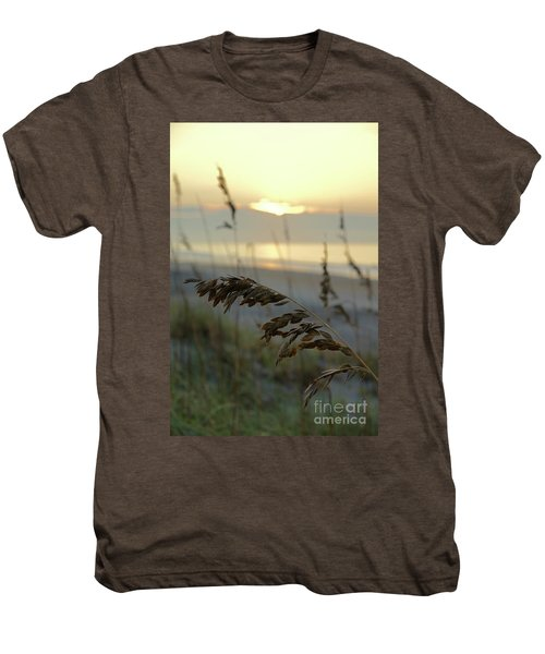 Sea Oats At Sunrise Men's Premium T-Shirt