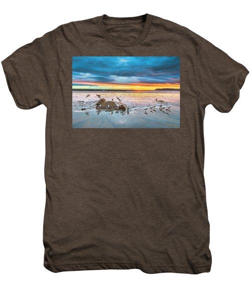 Seagull Sunset Men's Premium T-Shirt